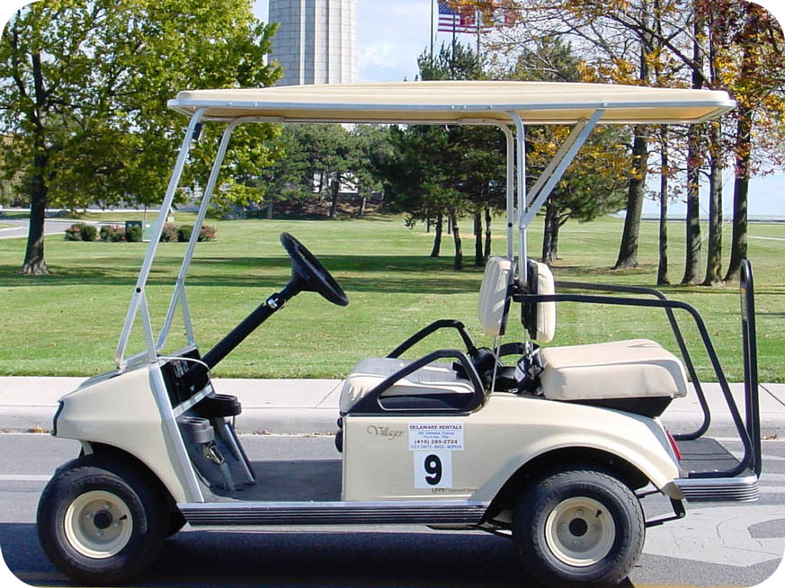 4 Person Golf Cart - A photo of a 2-4 person golf cart rental on Put-in-Bay island.